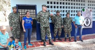 Ejército Nacional, reconstruye y entrega la Escuela 'Casa Blanca' sede de la institución educativa de Aguas Blancas de Valledupar