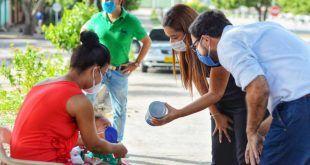 Administración Municipal lanza la campaña «Unidos por la vida y la salud» en el barrio Villa Miriam.