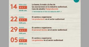 Participe en los encuentros virtuales sobre la organización del sector audiovisual