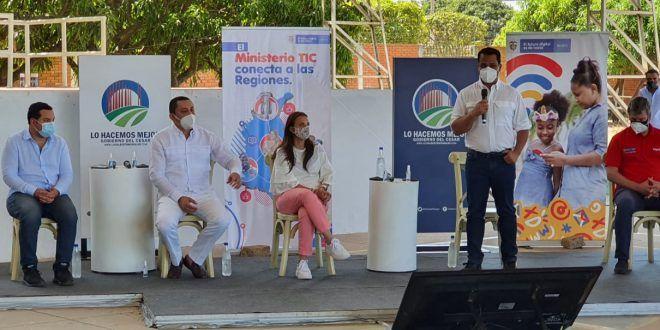 Ministra Karen Abudinen socializó en el Cesar el proyecto de conectividad más grande de Colombia