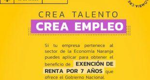 Se inicia nuevo ciclo para que empresas de la Economía Naranja acceden al beneficio de exención de renta por 7 años